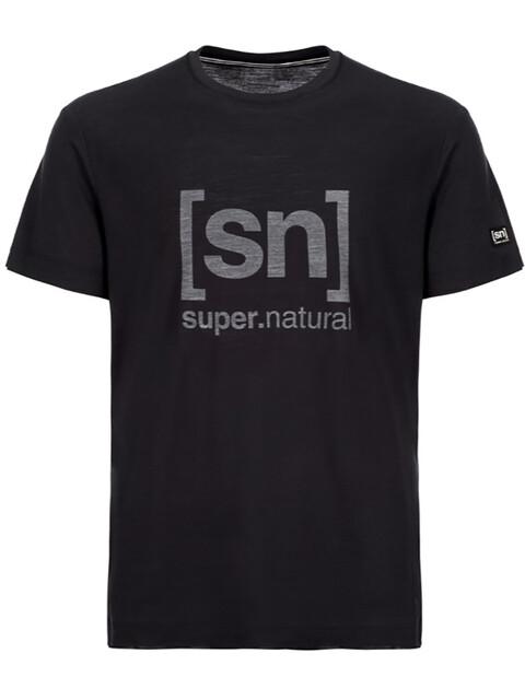 super.natural Essential I.D. T-Shirt Men Jet Black/Print